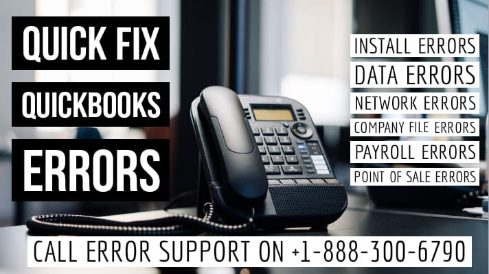 quickbooks error support